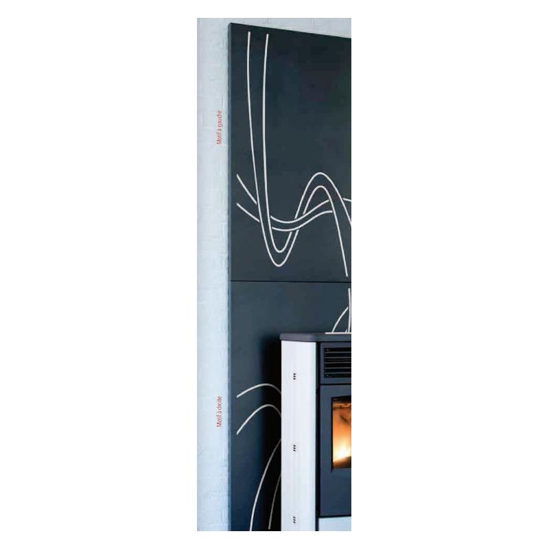 protection murale pour po le bois simplicity. Black Bedroom Furniture Sets. Home Design Ideas