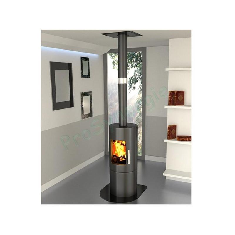 raccordement ecoten pour po le bois. Black Bedroom Furniture Sets. Home Design Ideas