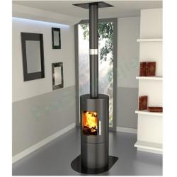 kit de tuyaux de raccordement pour po le bois ou pellets. Black Bedroom Furniture Sets. Home Design Ideas